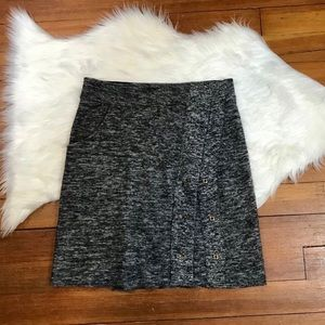 Anthropologie Sparrow Merino Wrap & Snap Skirt